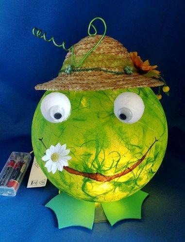 Basteltipp Kunterbuntes: Leuchtkugelfrosch echt toll, dass werde ich mal nachmachen :-)