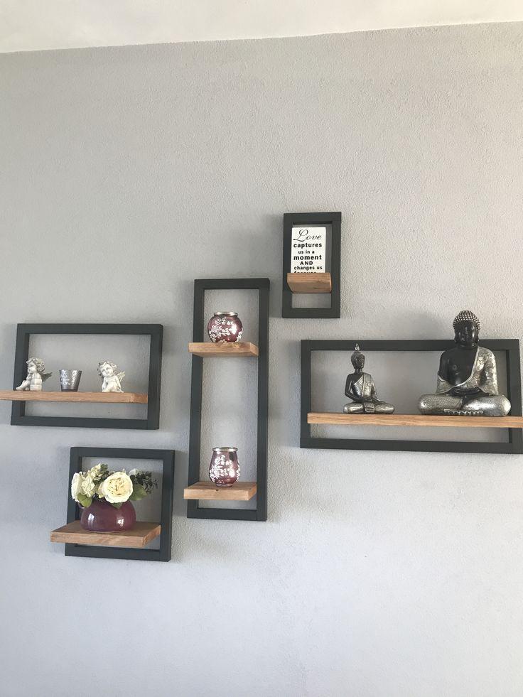 Wandrekjes van hout in elke gewenste vorm op te hangen
