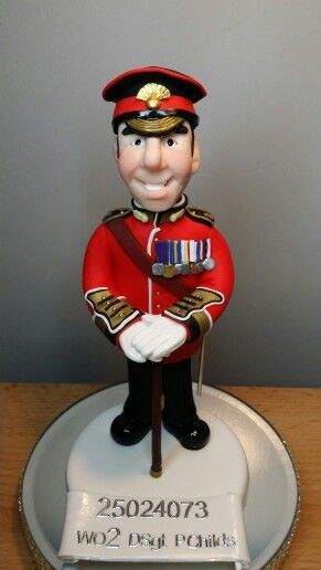 Polymer clay British soldier - by Cotswold Characters