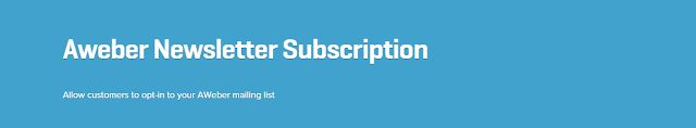 WooCommerce plugins: WooCommerce Aweber Newsletter Subscription Extensi...