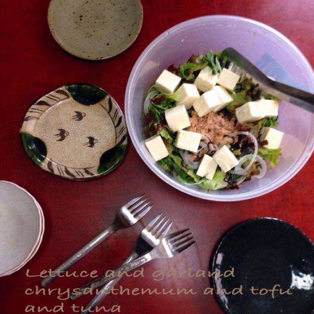やみつきサラダ作ってみました♡ ドレッシングを入れないから素材の持ち味が生かされておいしー! レタスとツナの他に春菊 新玉ねぎ 豆腐を入れました フジッコの塩昆布がいい仕事してますねえ←さりげないCM  ボール(IKEAの野菜の水切り用ボールをそのまま使ってます)に入れたままテーブルの上で混ぜて好きなだけ取って食べる形式にしましたが一気に完食してしまいました  これはリピ決定です ハルさん ごちそうさまあ(≧∇≦)  ももさん 私も作りましたよー♡ - 133件のもぐもぐ - ハルさんの料理 味付け要らずで、めっちゃ美味しいやみつきツナサラダ(≧∇≦)豆腐と新玉ねぎ 春菊もプラスver by toshitsumi191