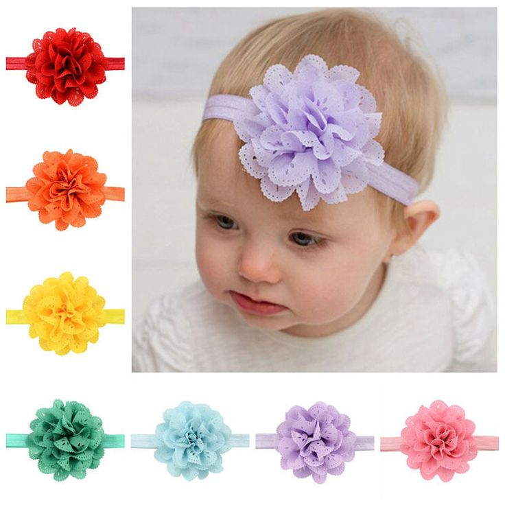 16 Piece Baby/Toddler Girl's Boutique Lace Flower Headband Set