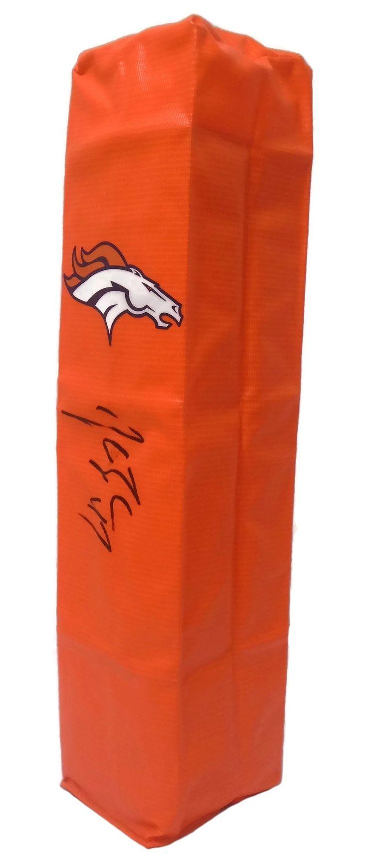John Lynch Autographed Denver Broncos Full Size Football End Zone Touchdown Pylon, Proof Photo