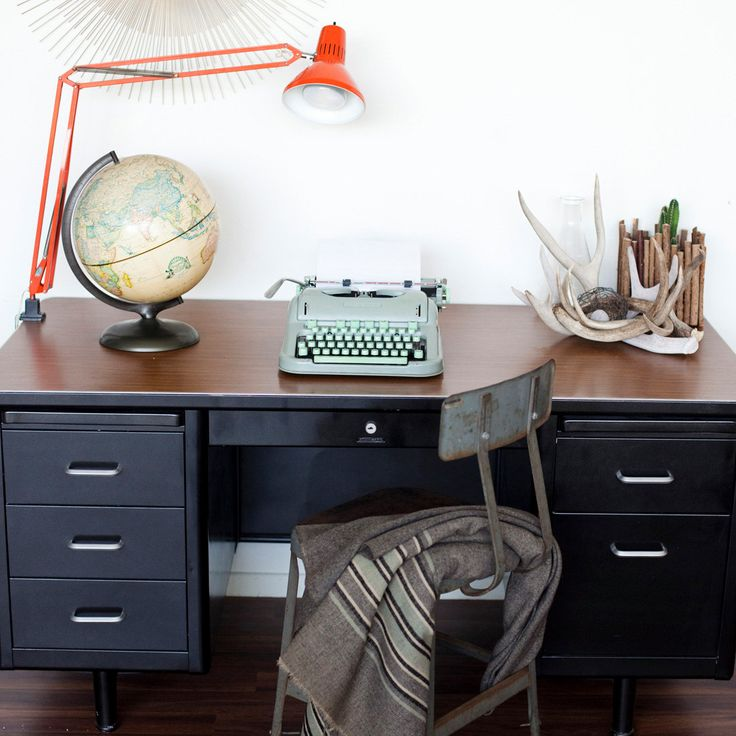 Saw this great black tanker desk on Etsy. Love it.