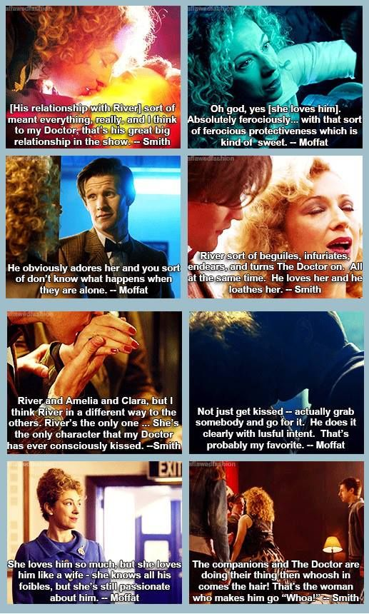 Matt and Moffat talk about The Doctor and River.
