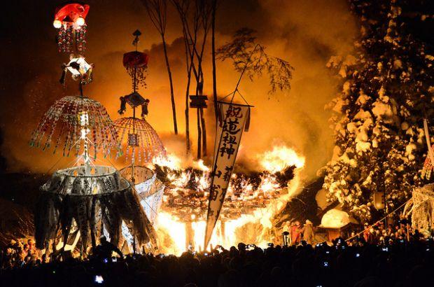 Nozawa Fire Festival, January 15th, 2015.