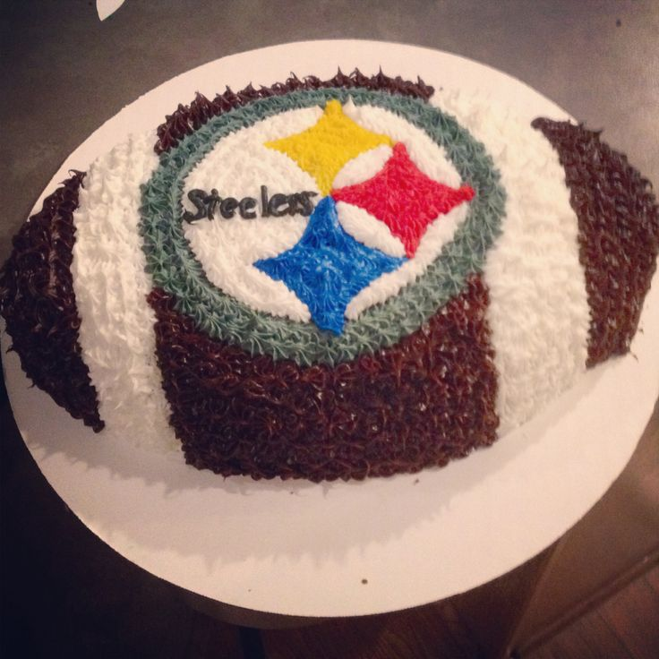 22 best football cakes images on Pinterest Pittsburgh steelers