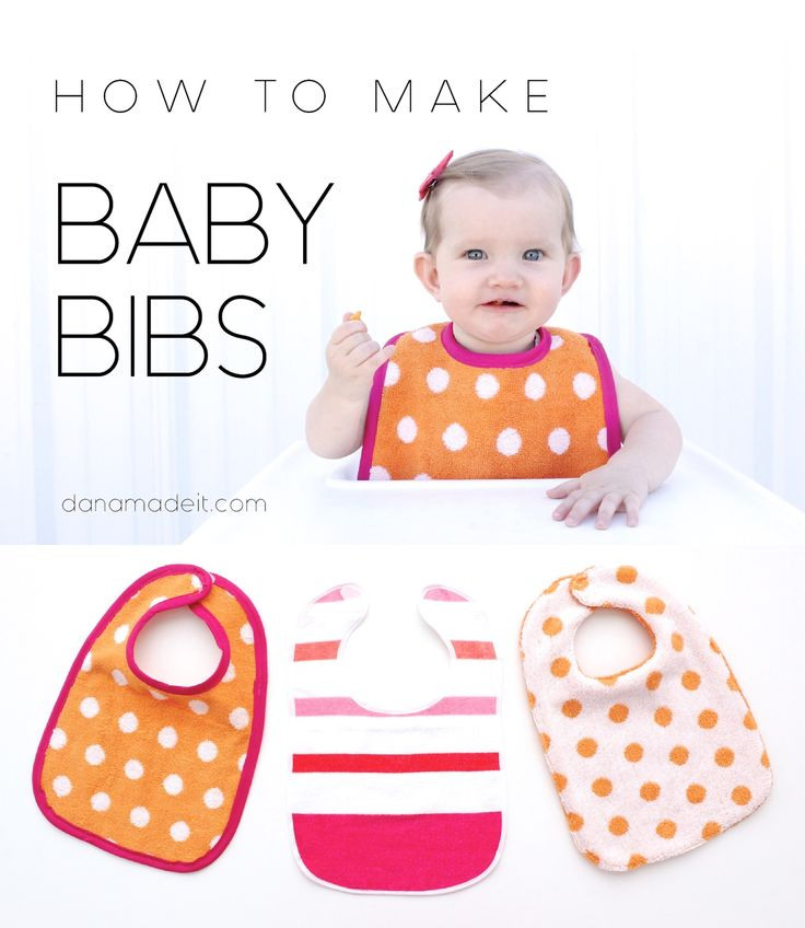 How to make Baby Bibs with a FREE PATTERN - two versions - one with binding, one without.