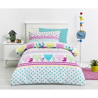 Kids House Hannah Quilt Cover Set Multicoloured