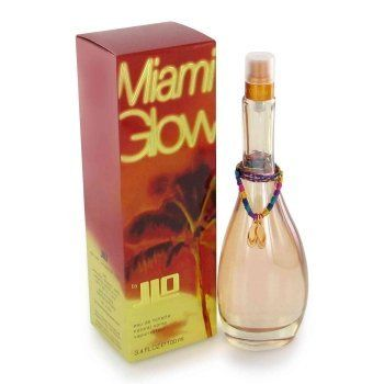 Jennifer Lopez Jlo Miami Glow Womens Perfume 3.4 oz 100 ml EDT eau de toilette Spray by JLO. $24.99. Miami Glow Perfume by Jennifer Lopez, Sexy, hot miami glow is the newest jennifer lopez fragrance. A sizzling blend of passion fruit, coconut, orange flower, sunbathed sand, amber, musk and vanilla give its it tropical scent any time of the year.
