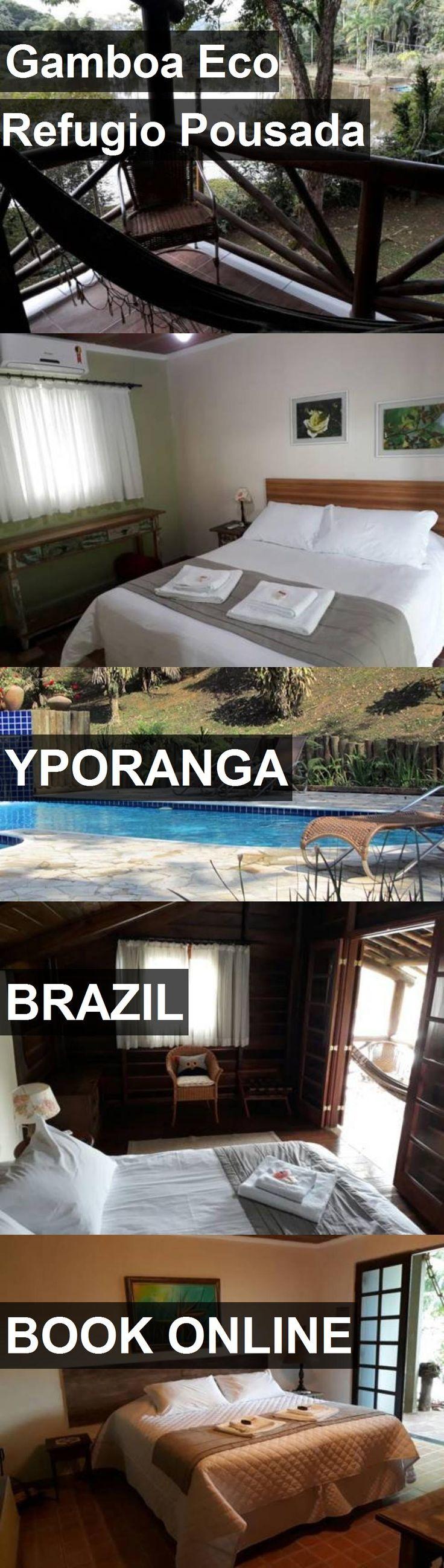 Hotel Gamboa Eco Refugio Pousada in Yporanga, Brazil. For more information, photos, reviews and best prices please follow the link. #Brazil #Yporanga #GamboaEcoRefugioPousada #hotel #travel #vacation