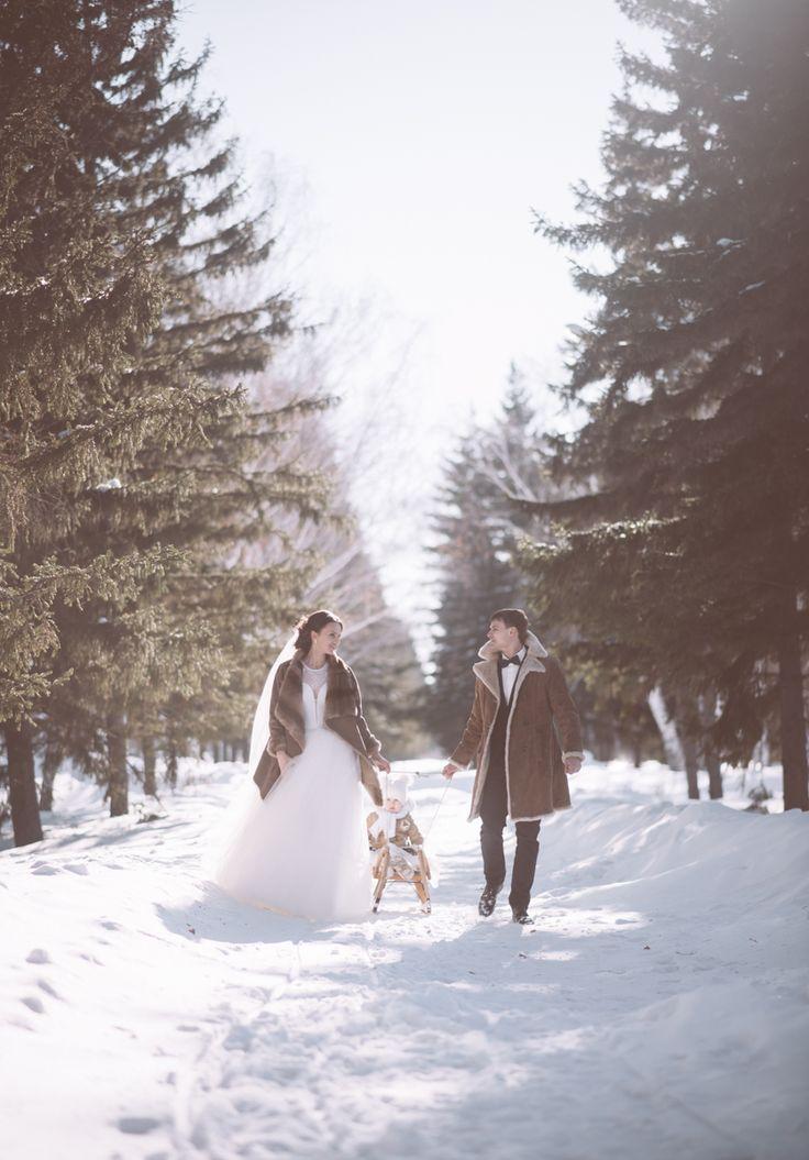 Свадьба зимой. Любовь. Семья. Детки. Свадьба 14 февраля. Зимняя сказка.