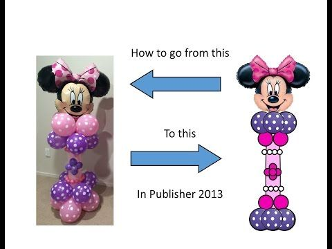 Publisher Tutorial: How to Make a Balloon Pedestal with a Character Head - YouTube