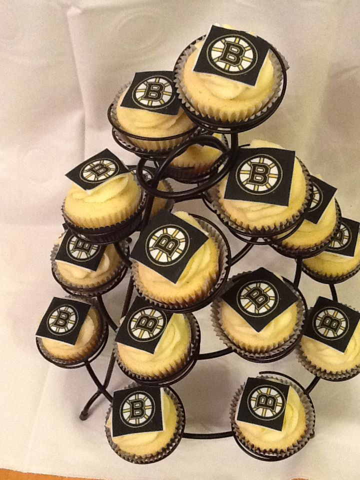 Boston Bruins Cupcakes Dessert Pinterest Boston