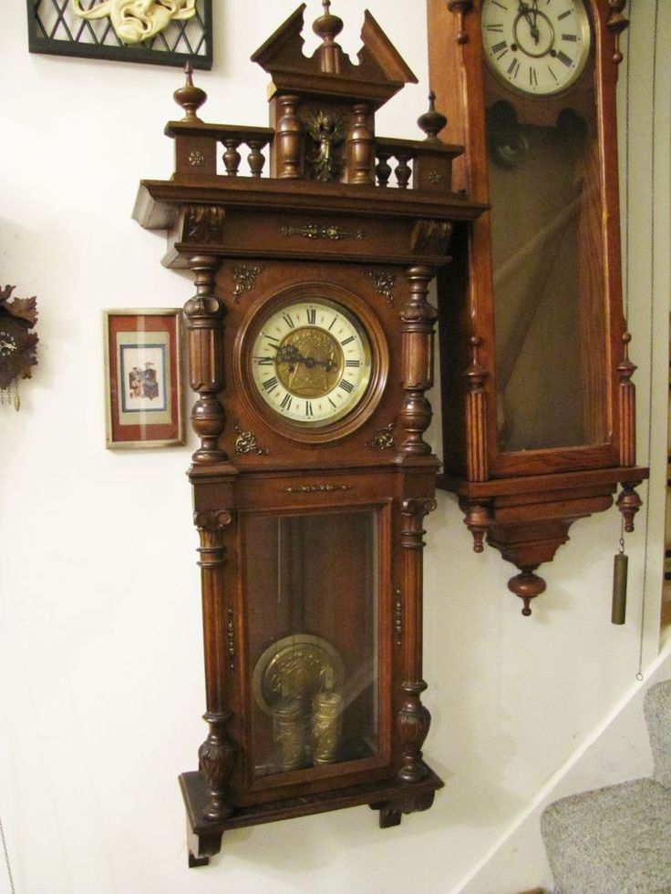 879 best Antique Wall Clock images on Pinterest Wall clocks