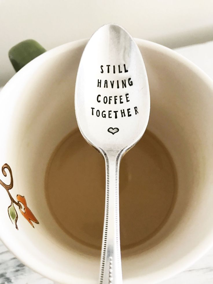 Still Having Coffee Together Spoon - Hand Stamped Vintage Spoon, Friendship Gift, Going Away Gift, Best Friend, Moving, Coffee Spoon, Love by SweetMintHandmade on Etsy https://www.etsy.com/listing/514699249/still-having-coffee-together-spoon-hand