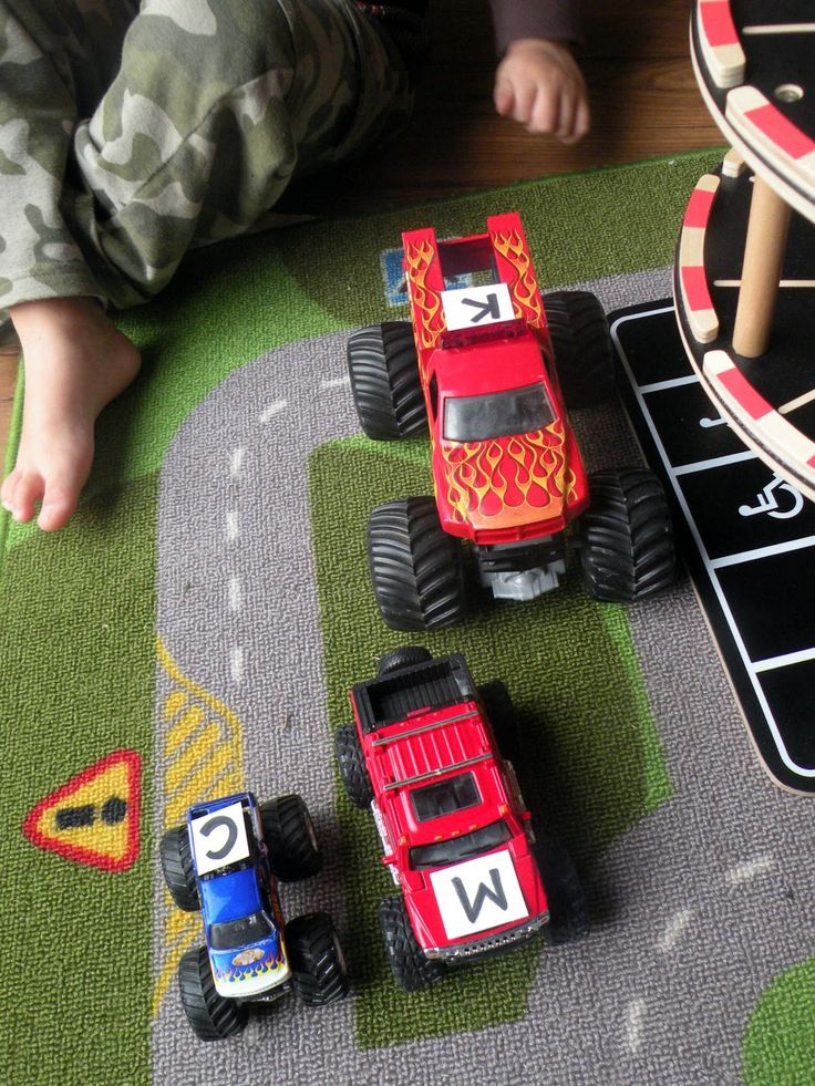 Monster Truck (Letter) Mash - a great activity for learning and identifying letters using cars and trucks!