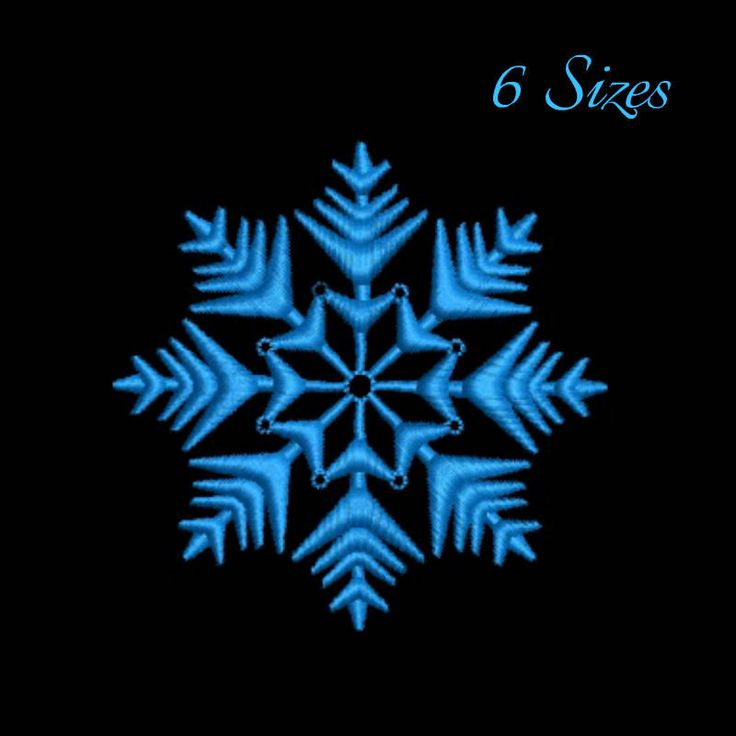 Snowflake machine embroidery design winter designs instant digital download pattern holiday in the hoop file by SvgEmbroideryDesign on Etsy