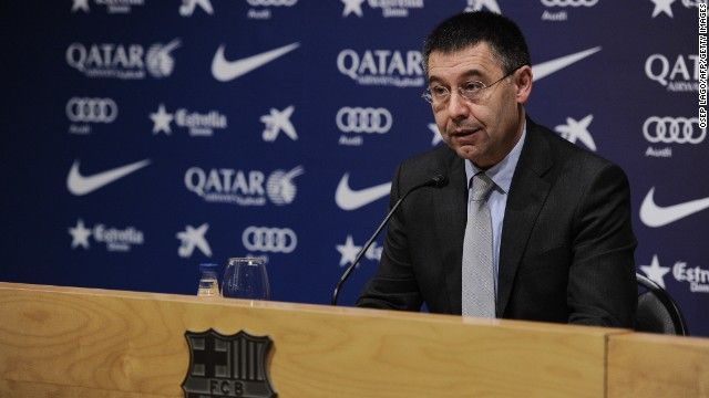 #Barcelona's president Josep Maria Bartomeu gave a response to #FIFA's sanction at a press conference on Thursday.#football