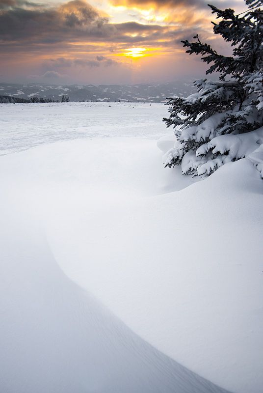 Winter Sunset - Deep Snow | CostMad do not sell this idea/product. Please visit our blog for more funky ideas