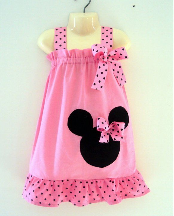 This is the. cutest. Minnie Mouse dress I have seen. Kylie wants stuff for our vaca she out grew all her custom Mickey clothes.