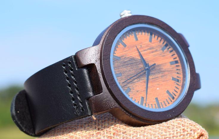 Modelia's shop - Andy - Mörkbrun med svart läderarmband
