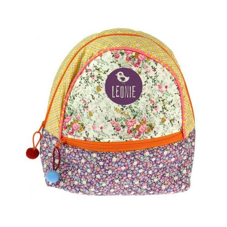 Personalisierter Rucksack mit Blumen-Motiv #Fairtrade #Emsdetten
