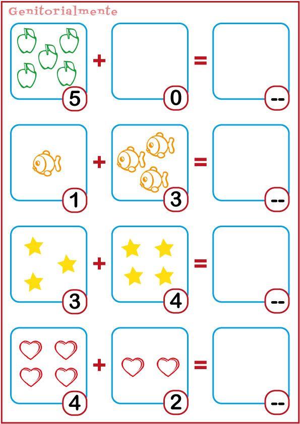 Schede didattiche addizioni prima elementare da stampare | Genitorialmente