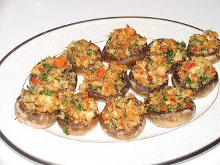 Lobster Stuffed Mushrooms (Lobster Recipe)