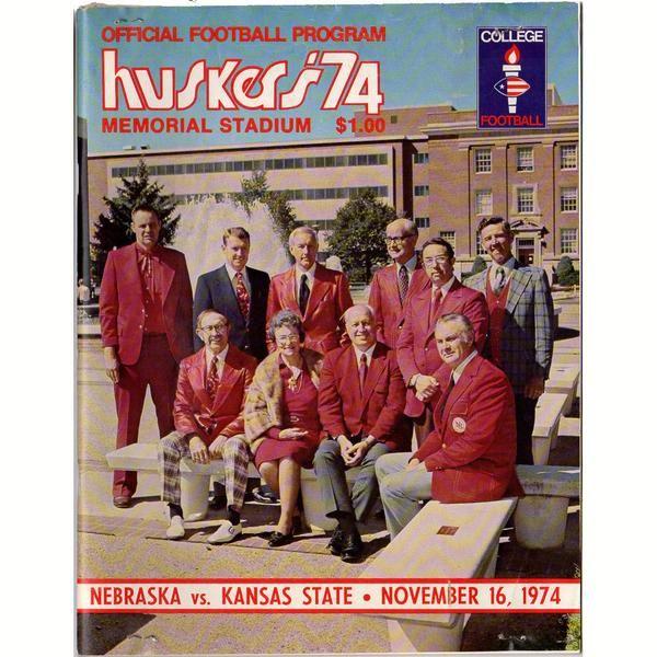 Vintage November 16, 1974 Nebraska Football Program Huskers vs. Kansas State Wildcats