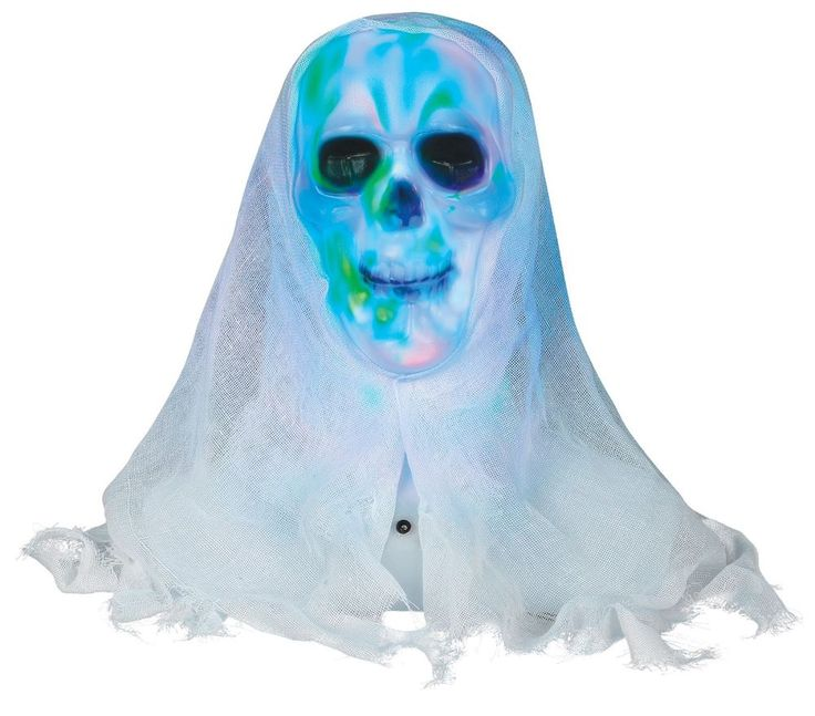 lightshow skull bust animated halloween prop - Animated Halloween Decorations