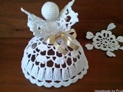 Crochet angel pattern Рождественский ангел Часть 2 - YouTube