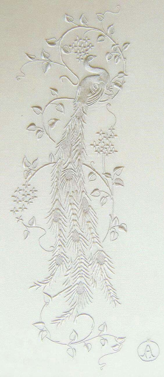 gorgeous white on white hand embroidery