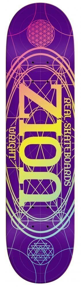 "Real Zion Wright Oval Pro Skateboard Deck - 8.06"" Purple"