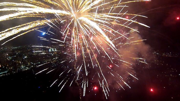 Man Flies Camera Drone Directly into Fireworks Display to Capture Incredibly Up-Close Footage of Exploding Fireworks
