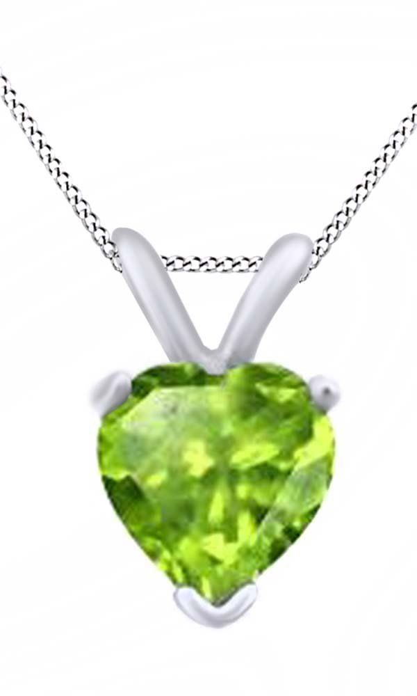 Heart Cut Solitaire Peridot August Birthstone Pendant Necklace In 10K White Gold (4.5 Cttw). Adds A Touch Of Nature-Inspired Beauty To Your Look Heart Cut Solitaire Pendant Necklace In 10K White Gold Makes a Standout Addition to Your Collection with 4.5 Carat August Birthstone Peridot. Gold is a dense, soft, shiny, malleable, and ductile metal, Gold is a synonym for wealth and money even though in the modern world it is neither. Perfect gift idea for Christmas, party, wedding, engagement...