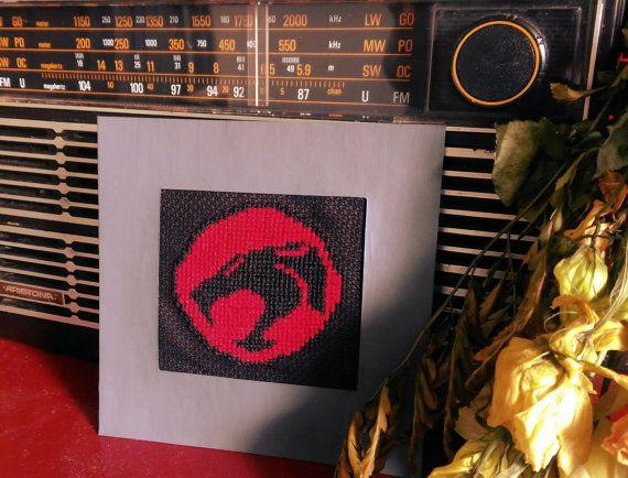 Thundercats logo cross stitch van 8BitchStitch op Etsy