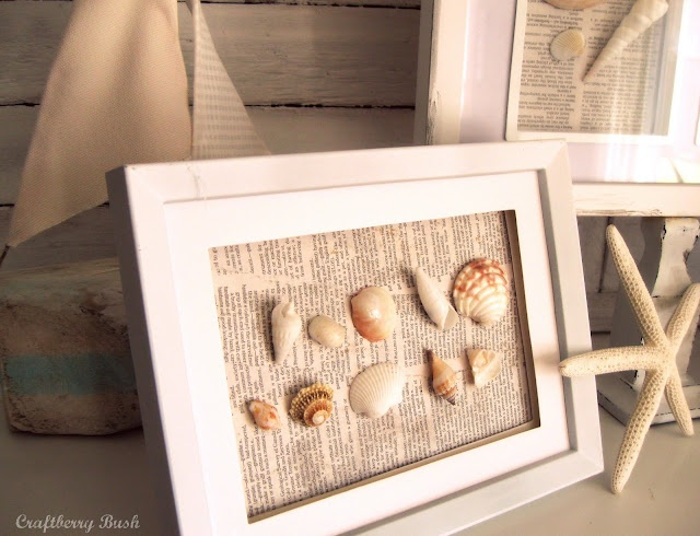 Idea from Craftberry Bush for how to frame all those shells I have laying around