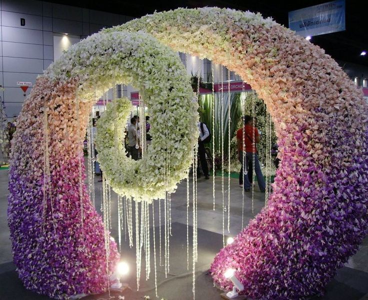 Ombre floral design, lavenders, blush & white
