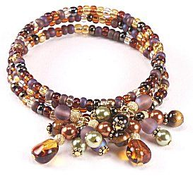 Jewelry Making Idea: Toffee Burst Bracelet (eebeads.com) #Beading #Jewelry