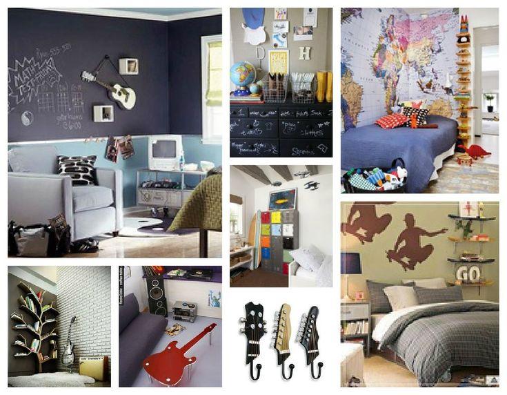 Ideas para decorar el cuarto de adolescentes varones for Decoracion de paredes de cuartos para jovenes hombres