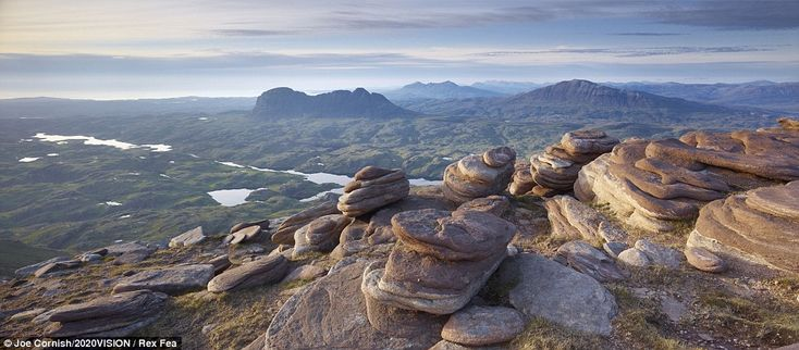 The Assynt mountains from the summit of Cul mor in the Scottish HighlandsScotland Inspiration, Scotland Dreams, Outdoor Inspiration, Assynt Mountain, Daily Mail, British, Scottish, Beautiful Scotland, Cul Mor