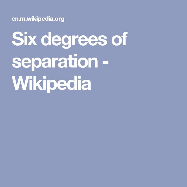 six degrees of dating wikipedia