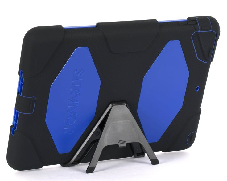 Griffin Survivor Case for iPad Air - Black Blue | Great for the adventurous, clumsy or little fingers. #kids #griffinsurvivor #iPad #protective #militarytested