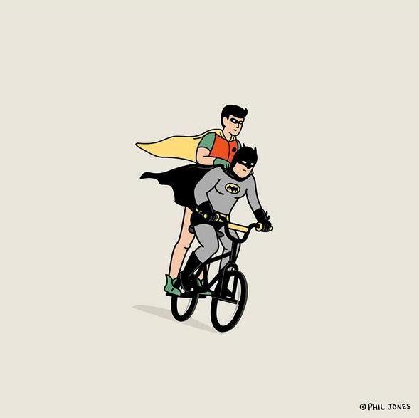 Batman and Robin Goonies style
