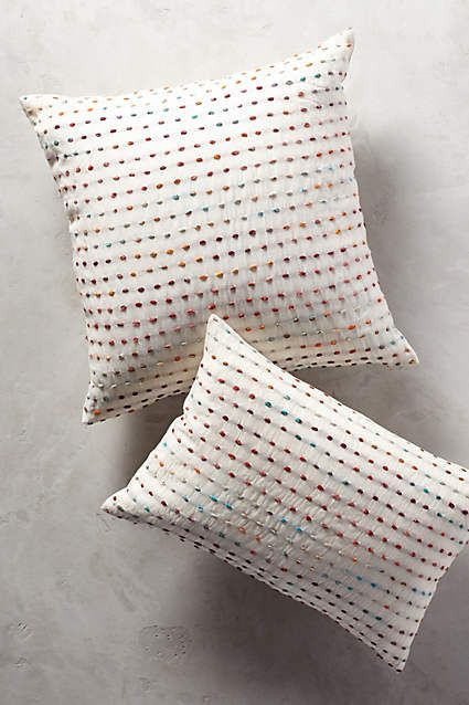 Stitched Tippi Pillow - anthropologie.com