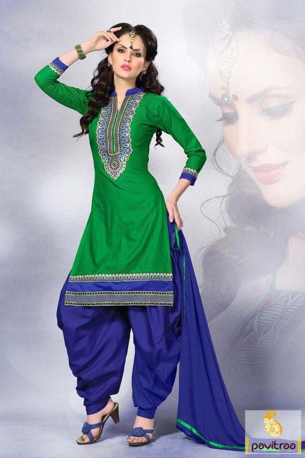 7055ff2dfd #Green and Blue Color, #Punjabi Patiala Churidar Suit, #Latest, #Low Cost…  | POSIBILITIES | Punjabi suits, Punjabi salwar suits, Salwar suits