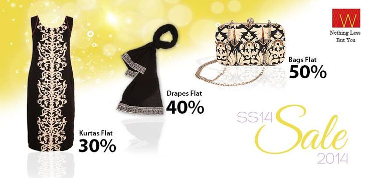 The magnificent #sale is here! Shop at #W and be enchanting this #season! Explore here : www.shopforw.com