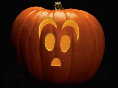 Easy scared ghost - Pumpkin Carving Patterns: Free Ideas from 27 Stencils | Reader's Digest