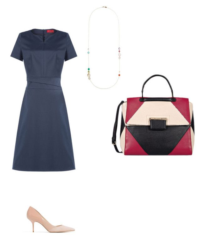 Chic work outfit by the925editor on Polyvore featuring HUGO, Zara, Ippolita and Furla